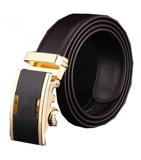 BLT052 - Black and Gold Plain BuckelBelt