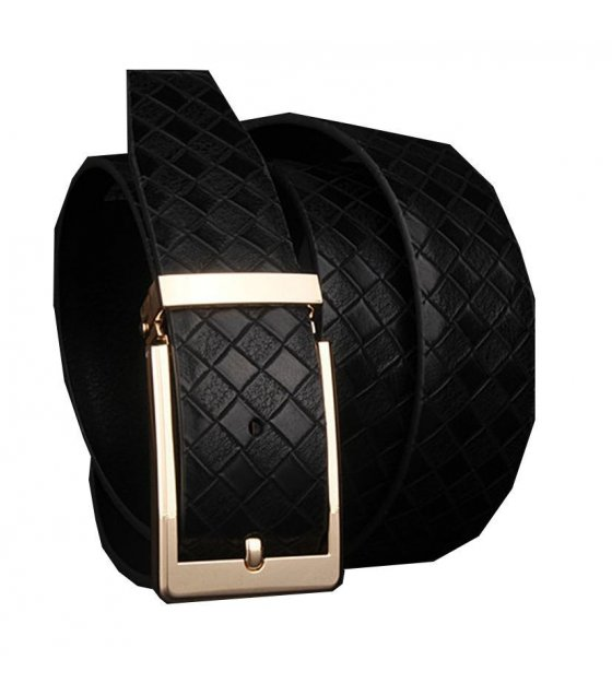 BLT064 - Black Gold branded mens belt