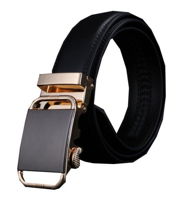 BLT090 - Clear buckle leather belt automatic