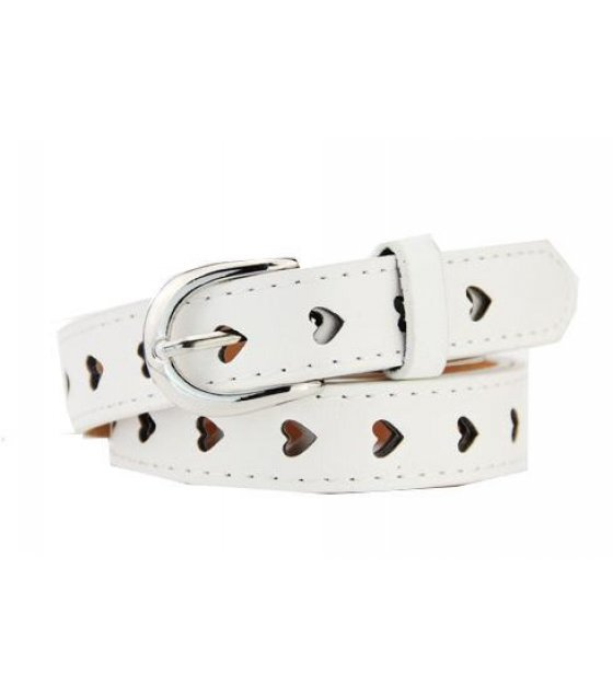 BLT108 - White Women pin buckle leather belt
