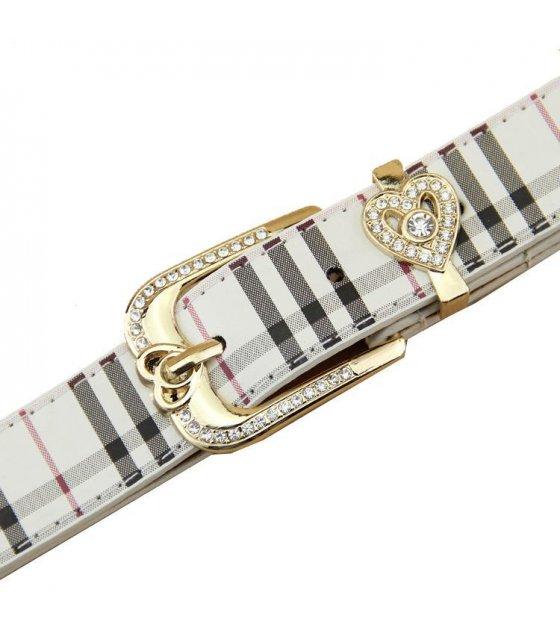 BLT109 - Womens diamond pin buckle belt