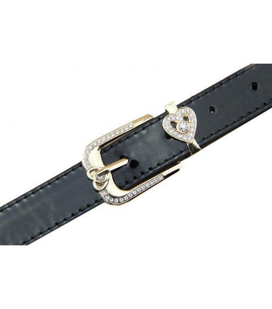 BLT110 - Womens diamond pin buckle belt