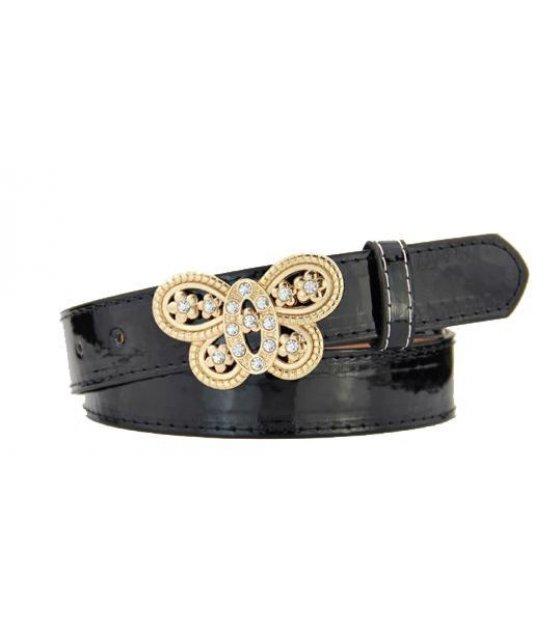 BLT111 - Womens Heart pin buckle belt