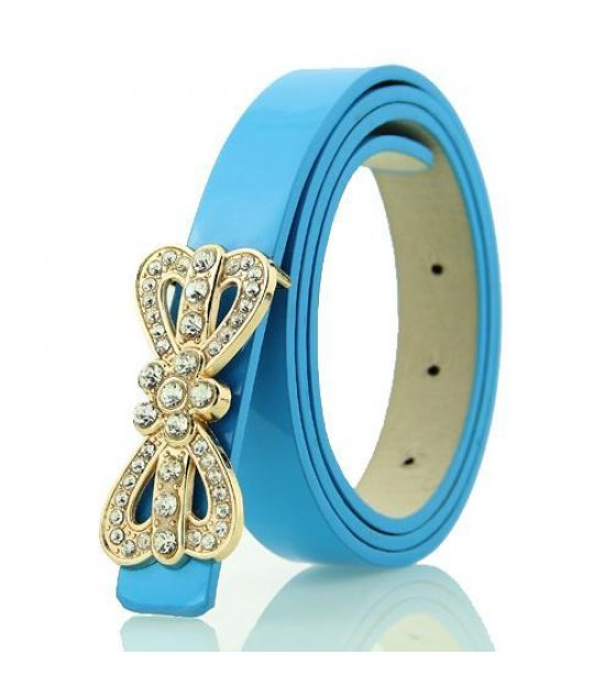 BLT120 - Blue Bow design belt