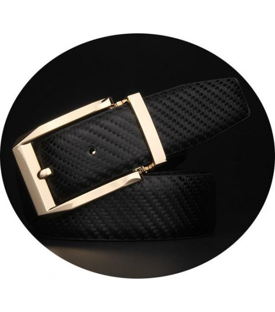 BLT157 - Black Crocodile Skin Belt