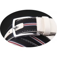 BLT172 - Canvas Striped Belt