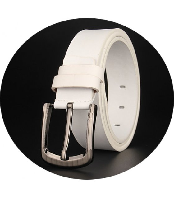 BLT173 - White Pu Leather Belt