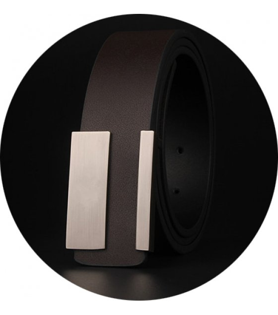 BLT179 - Wild leather durable smooth buckle belt