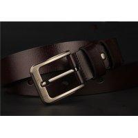 BLT198 - Men's antique leather pin buckle belt