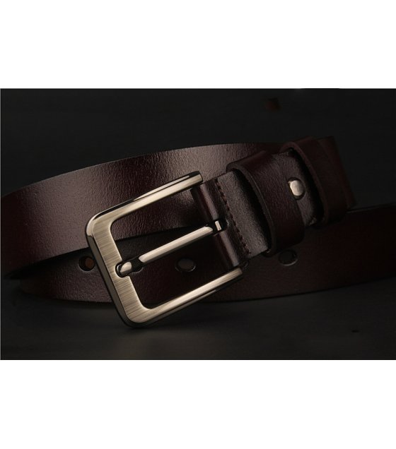 BLT198 - Men's antique leather pin buckle belt