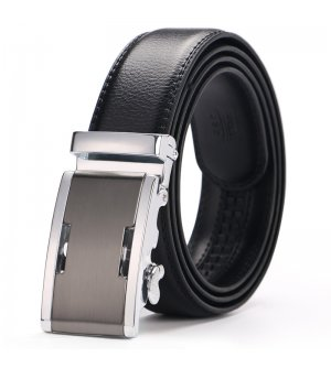 BLT210  - Two-layer leather automatic buckle belt