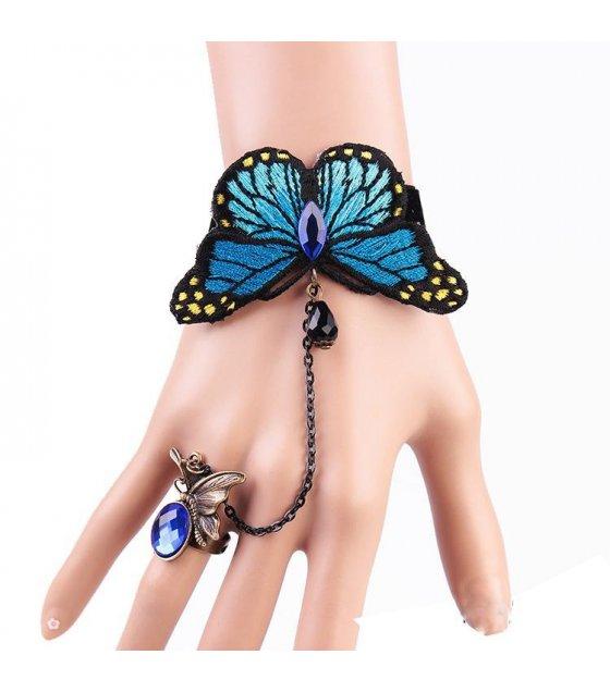 B164 - Blue Butterfly Bracelet