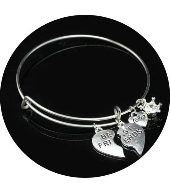 B250 - Silver Best Friend Bracelet