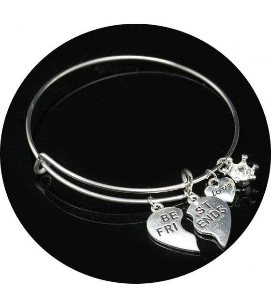 B250 - Silver Best Friend Bracelet