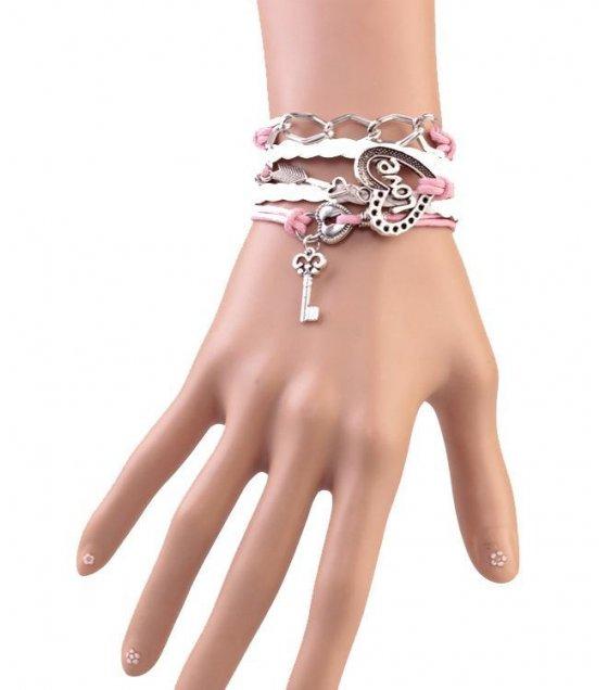 B255 - White Tassel Love Bracelet