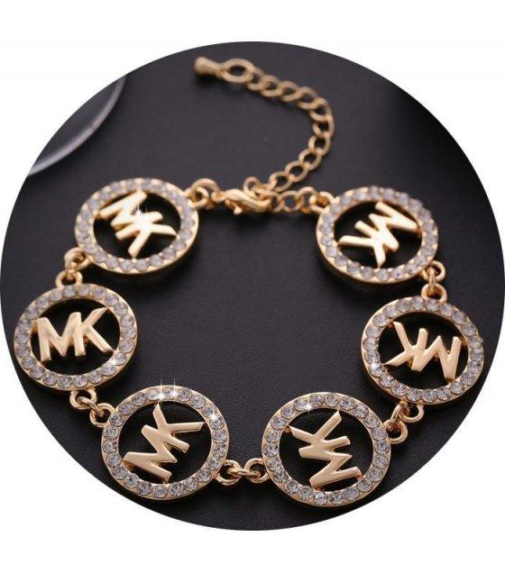 B281 - Golden diamond braceletsMK