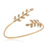 B307 - Geometry Leaves Bracelet
