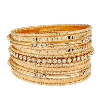 B360 -  Alloy diamond pattern bracelet