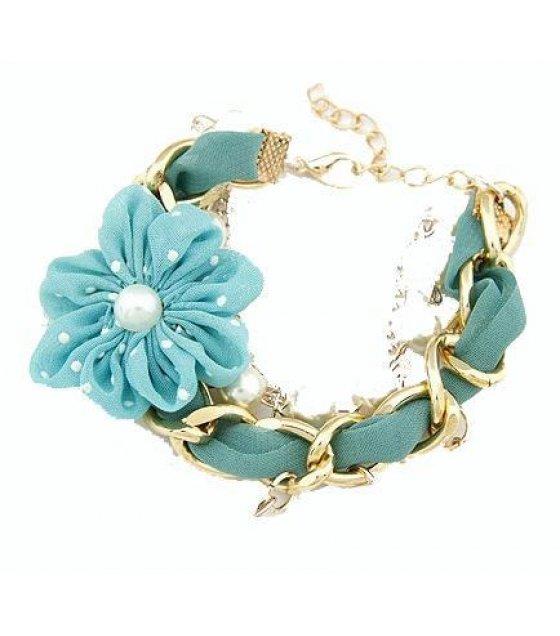 B411 - Green Floral Bracelet