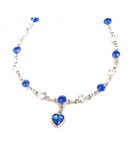 B504 - Heart of peach heart crystal Bracelet