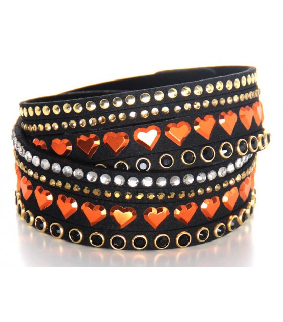 B521 - Multi-layer diamond-studded bracelet