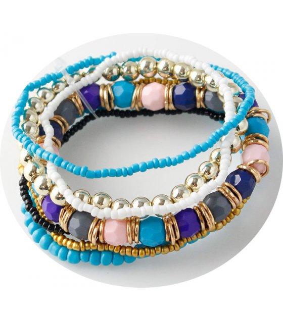 B532 - Bohemian ethnic beaded bracelet