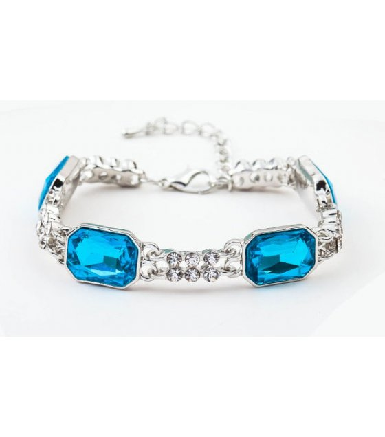 B536 - Crystal double-row diamond creative bracelet