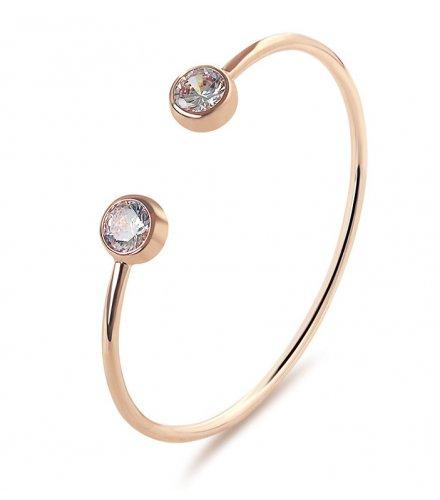 B538 - Diamond wild simple copper bracelet