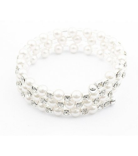 B545 - Multi-layer diamond pearl bracelet