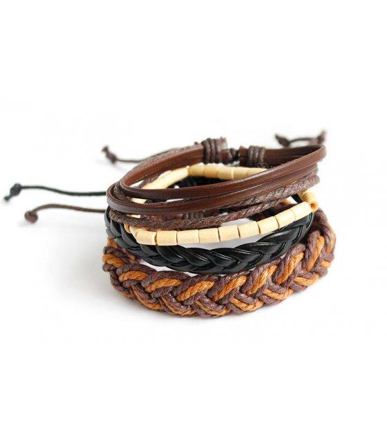 B558 - Geometric weaving adjustable Bracelet