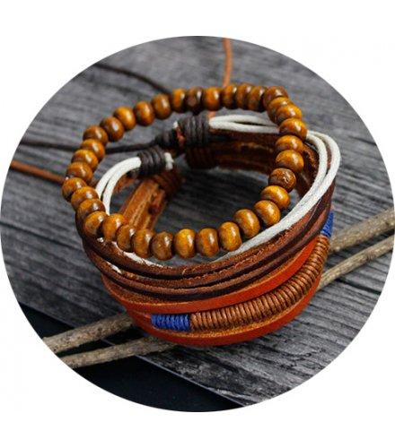 B560 - Punk Retro Woolen Crochet Bracelet