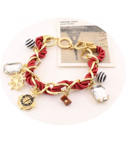 B563 - Crystal Multi-Element Woven Bracelet