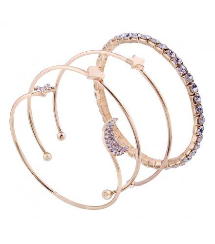 B566 - Simple diamond stars bracelet