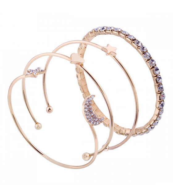 B566 - Simple diamond stars bracelet