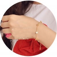 B573 - Fashion Pentacle Heart Bracelet