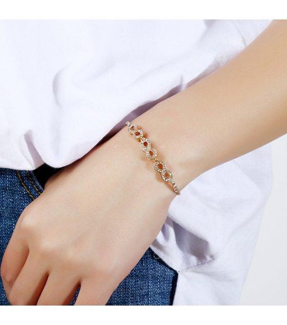 B577 - Rhinestone Infinity Bracelet