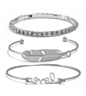 B580 - Open Leaves Bracelet