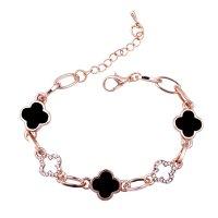 B585 - Four-leaf clover bracelet