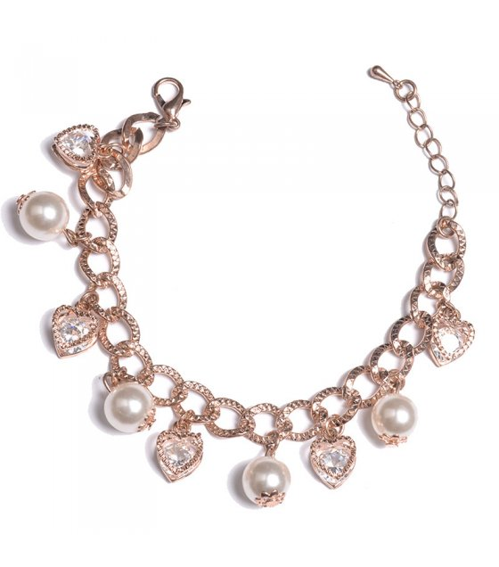 B589 - Fashion peach heart bracelet