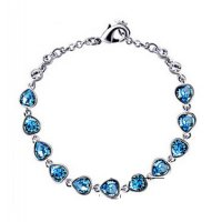 B591 - Simple ladies crystal bracelet