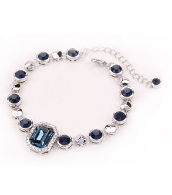 B598 - Gemstone Crystal Bracelet