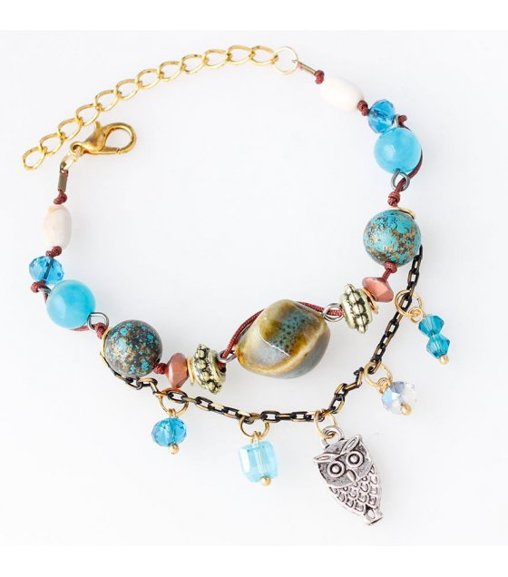 B601 - Blue Gemstone Bracelet
