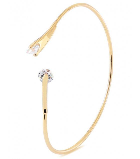 B610 - Double diamond zircon line open bracelet