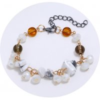 B614 - White turquoise bracelet