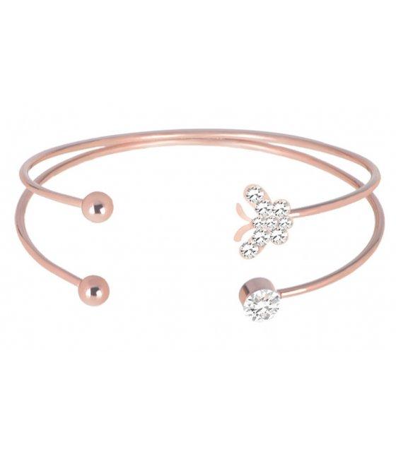 B621 - Rose gold women's simple butterfly bracelet
