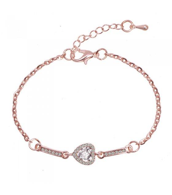 B625 - Heart-shaped women's bracelet