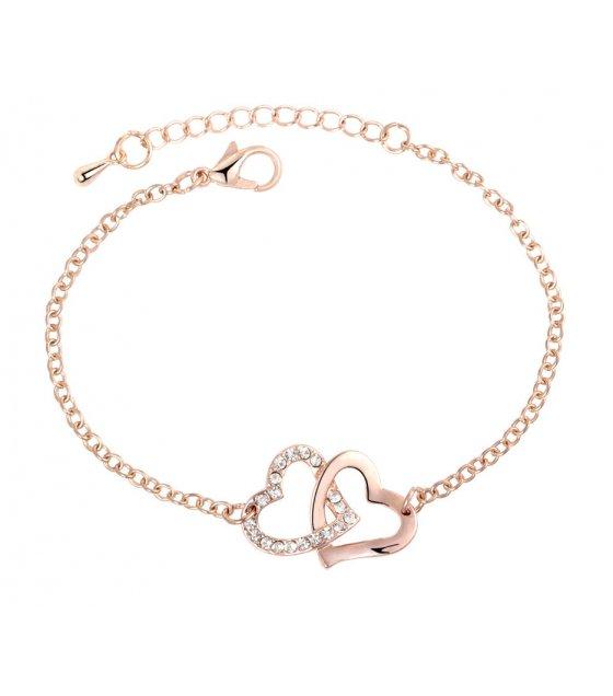 B626 - Double heart bracelet