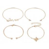 B630 - LOVE geometry knotted bracelet