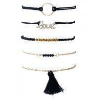 B635 - Black tassel bracelet