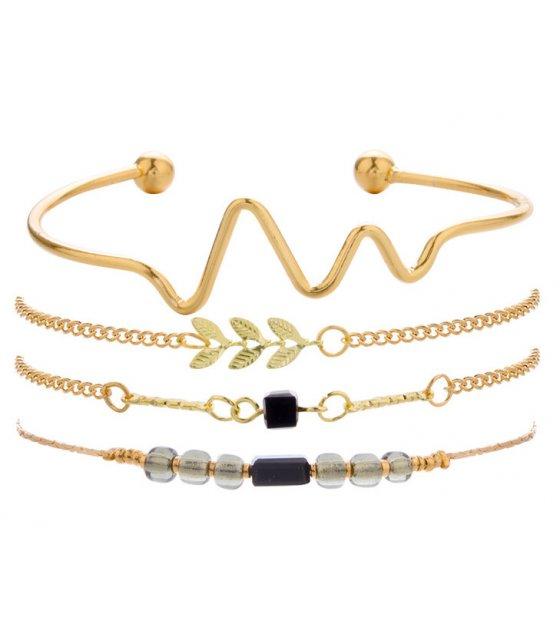 B643 - Fashion beaded small leaf bracelet
